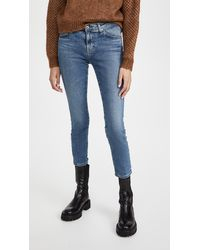 AG Jeans Prima Cropped Jeans - Blue