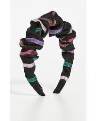 Tanya Taylor Ruched Headband - Black