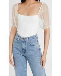 Free People Puff Sleeve Cami Top - White