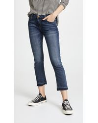 Current/Elliott - The Cropped Straight Leg Jeans - Lyst