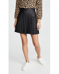 Cupcakes And Cashmere Cannes Faux Leather Skirt - Black