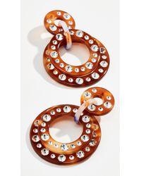 Lele Sadoughi - Starlight Crystal Hoop Earrings - Lyst