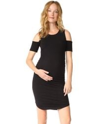Monrow - Maternity Cold Shoulder Dress - Lyst