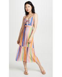 Endless Rose Front Tie Maxi Dress - Multicolor