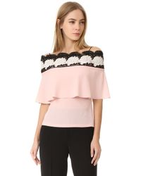 Yigal Azrouël - Bare Lace Top - Lyst