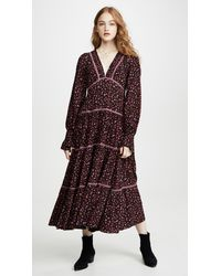 Free People What A Feeling Midi Dress - Black