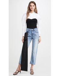 Hellessy Gresham Jeans With Sash - Blue