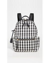 Tory Burch Piper Gingham Zip Backpack - Black