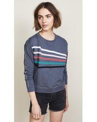 Sundry - Chenille Stripes Pullover - Lyst
