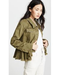 Free People - Willow Denim Military Jacket - Lyst