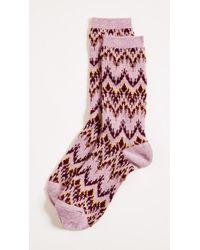 Madewell - Ski Chevron Trouser Socks - Lyst