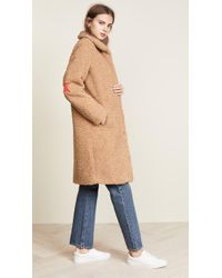 Zoe Karssen Faux Fur Teddy Coat - Natural