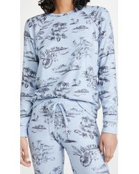 Pj Salvage Peachy Party Pullover Sweatshirt - Blue