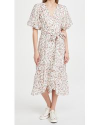 MINKPINK Kacey Puff Sleeve Midi Dress - Multicolour