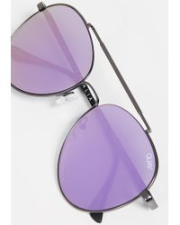 Quay Lickety Split Sunglasses - Purple