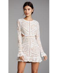 For Love & Lemons Emerie Cutout Dress - White