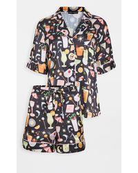 Karen Mabon Happy Hour Short Pyjama Set - Black