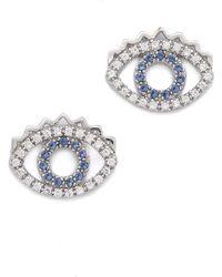 KENZO - Mini Eye Earrings - Lyst