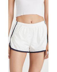 Tory Sport Lightweight Track Shorts - White