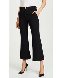Laveer Cropped Annie Trousers - Black