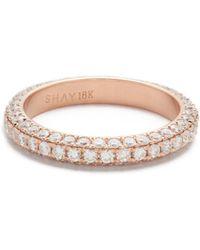 SHAY - 18k 3 Sided Diamond Eternity Ring - Lyst