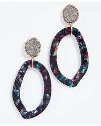 BaubleBar - Tristana Hoop Resin Earrings - Lyst