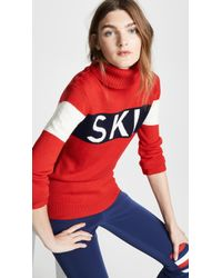 Perfect Moment Ski Intarsia-knit Wool Sweater - Red