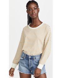 Stateside Stripe Sweatshirt Tee - Natural