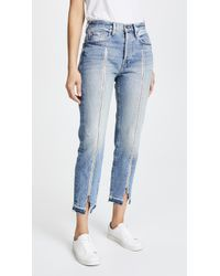 FRAME - Le Original Jeans With Zipper - Lyst