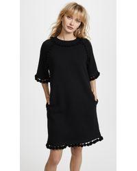 Marc Jacobs - Sweatshirt Dress With Pom Poms - Lyst