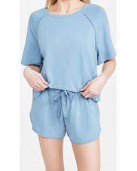 Eberjey Blair Meadow Sweatshirt - Blue