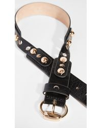 Dodo Bar Or Liam High Waist Belt - Black