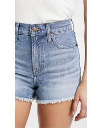 Madewell Perfect Jean Shorts - Blue