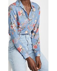L'Agence Holly Blouse - Blue
