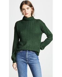 Line & Dot - Juniper Cable Knit Sweater - Lyst