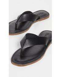 Madewell Boardwalk Thong Sandals - Black
