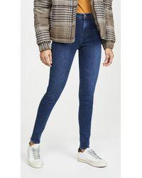 J Brand Maria High Rise Skinny Jeans - Blue