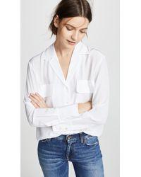 FRAME Pocket Silk Blouse - White