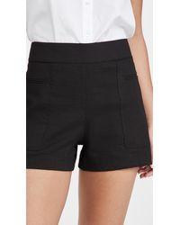 Theory Mini Utility Shorts - Black