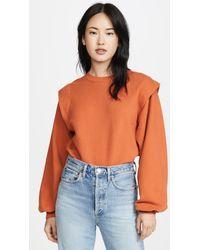 Agolde '80s Pleated Shoulder Sweatshirt - Orange