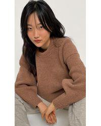 Alexander Wang - Mock Neck Drape Back Pullover - Lyst