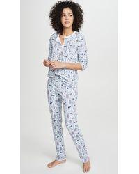 Roberta Roller Rabbit Nordic Folk Pajamas - Blue