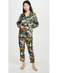 Karen Mabon Rainforest Pyjama Set - Black