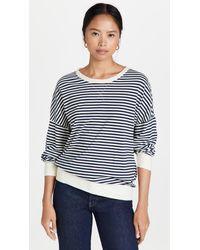 Stateside Stripe Sweatshirt Tee - Blue