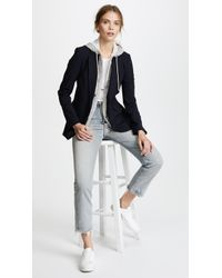 Veronica Beard Classic Jacket With Hoodie Dickey - Blue