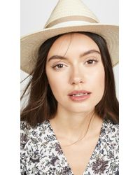 Madewell Classic Flat Brim Straw Hat With Ribbon - Natural
