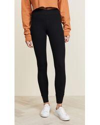 ATM Long Micromodal Yoga Trousers - Black