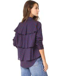 AMO - Ruffle Prep Shirt - Lyst