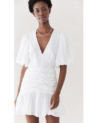 MINKPINK Jessey Ruched Mini Dress - White
