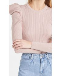 7 For All Mankind Puff Crew Neck Sweater - Pink